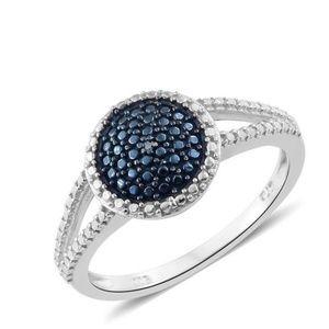 Jewelry - 💍-Blue Diamond Accent (IR) Black Rhodium